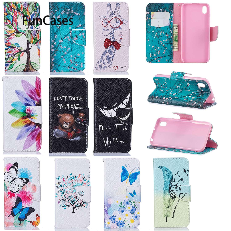 Protective Phone Cases For capinha Huawei Y5 2019 Little Bear PU Leather Phone Bag sFor Estojo Huawei capa Honor 8S Capa