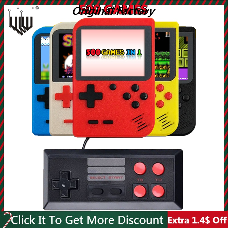 3 inch Handheld Game Consoles 500 IN 1 Retro Video Game Console Pocket 8 Bit Handheld Game Players Gamepads Kids Christmas Gift