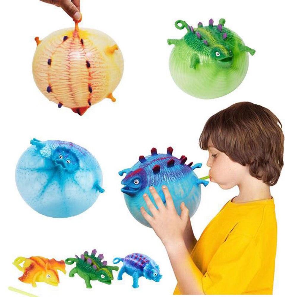 Динозавр мягкие игрушки антистресс надувные игрушки животных сжимаются Мягкий шар воздушный шар милые забавные детские подарки Хэллоуин