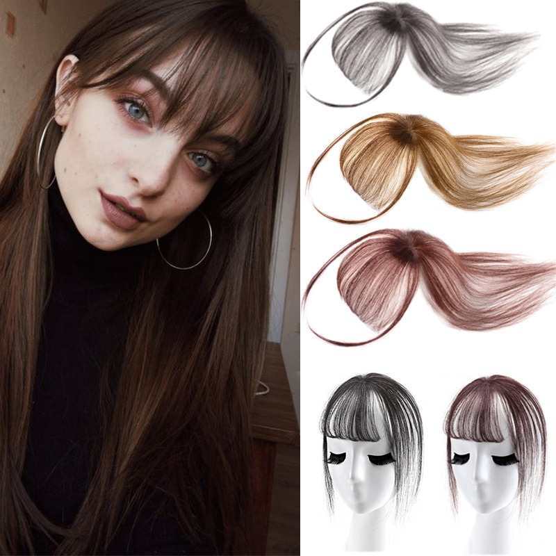 XUANGUANG More Natural Hair Handmade 3D Air Passivation Human Hair Bangs Hair Extensions And Wigs Hair Piece Invisible Bangs
