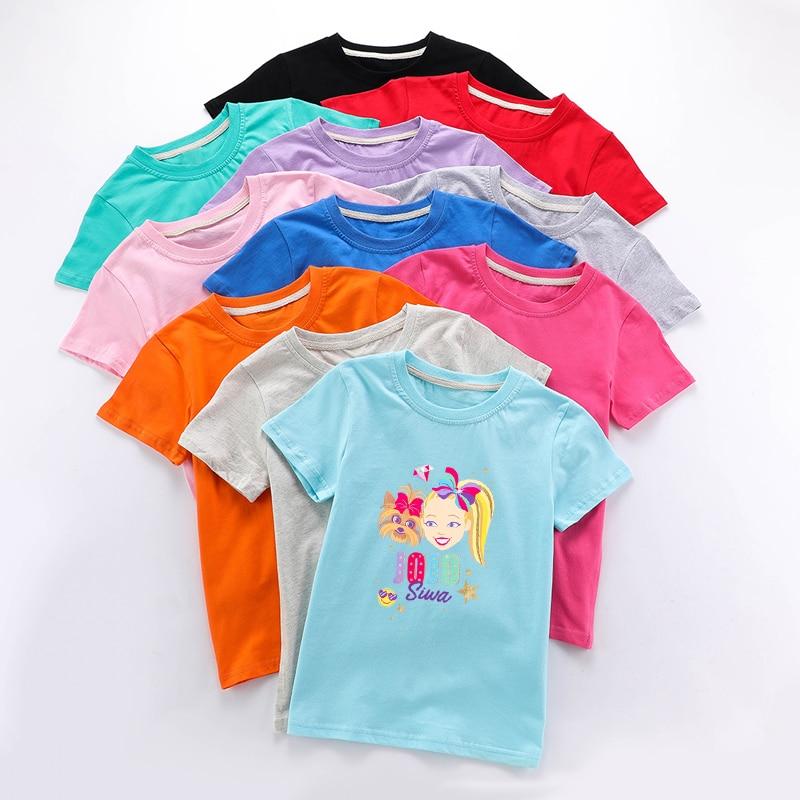 2020 ropa de bebé niña verano divertida camiseta de Jojo Siwa para niñas camisetas ropa de niños Camiseta de manga corta para niños ropa