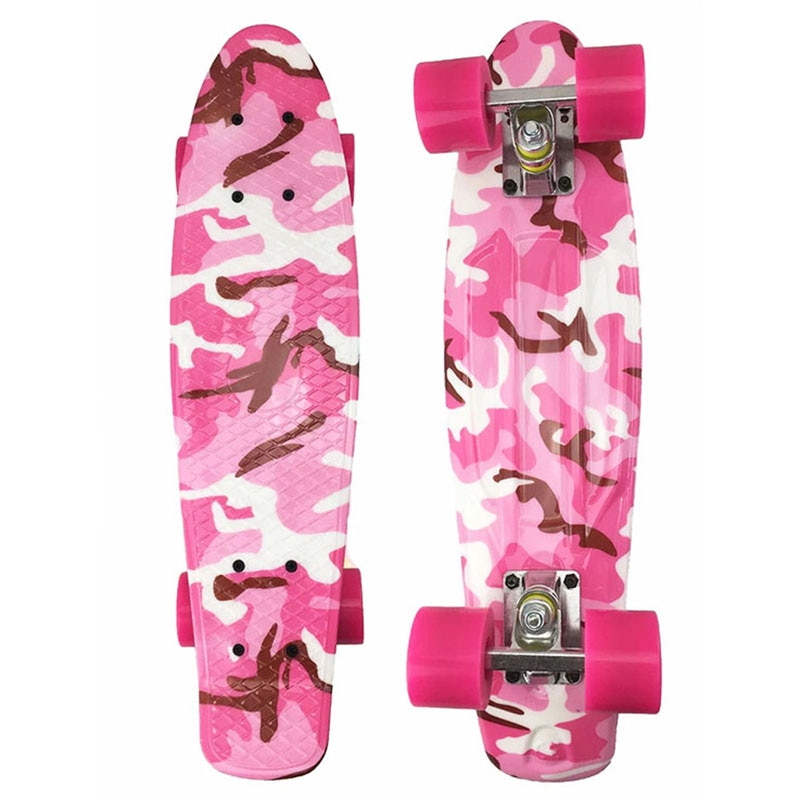 22 Inch Mini Cruiser Skate Board Retro Penny Board Complete Ready To Ride Camouflage Colorful Outdoor Sport Skateboard Scooter