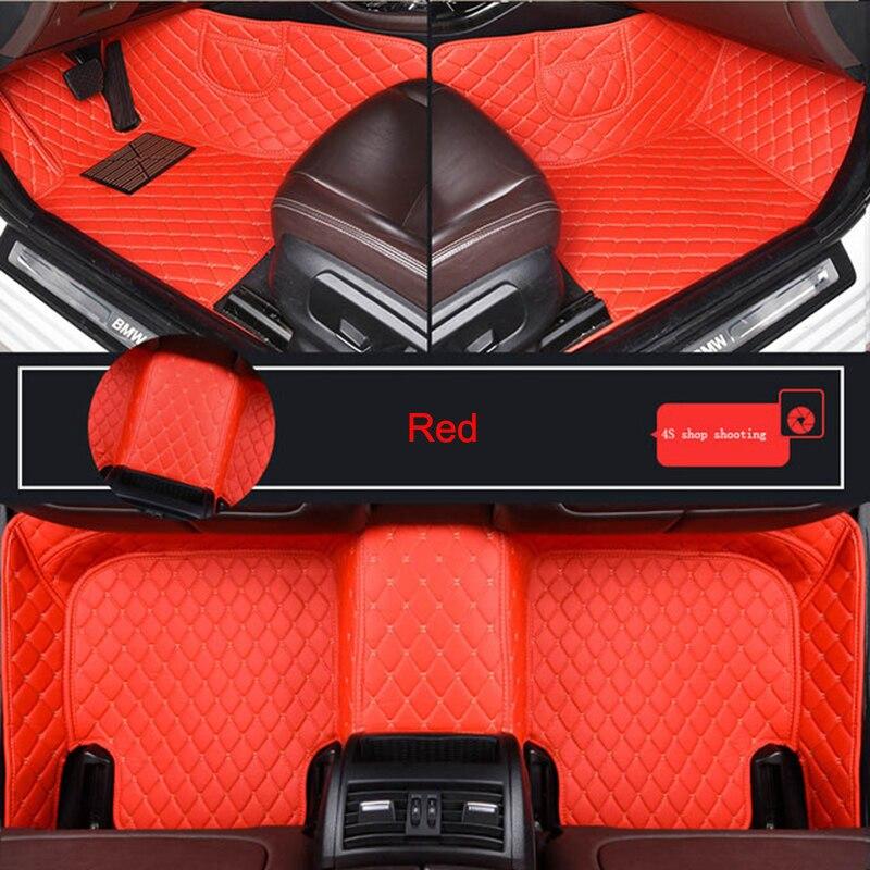 Durable Leather Customized Car Floor Mat for VW Caddy Touran Tiguan TOUAREG Atlas GOL Caravelle Sharan Variant Car Accessories enlarge