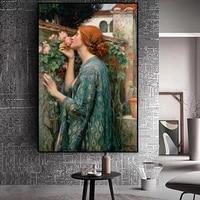 Peinture sur toile murale  decor de maison  Portrait modulaire de John William  My Sweet Rose  affiche dart sur toile pour salon