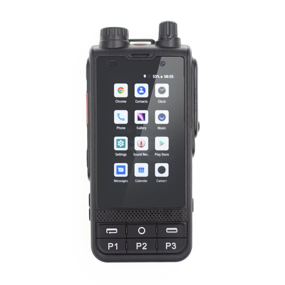 جديد 2021 راديو شبكة 4G LTE W6 أندرويد 8.1 نظام تحديد المواقع 4200mAh بطارية Zello PTT هاتف لاسلكي تخاطب