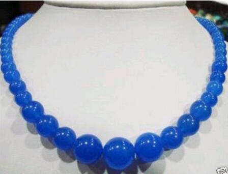 "Preços por atacado 6-14mm azul safira colar 18"""