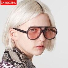Flat top aviation sunglass pink sunglasses women luxury brand designer oculos aviador mirror shades
