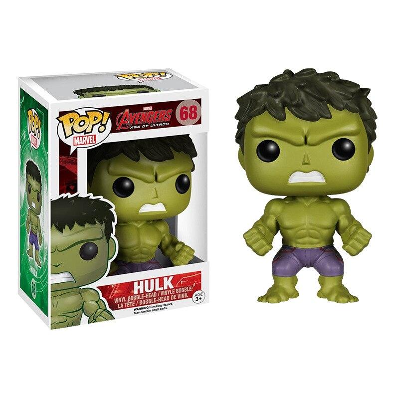 FUNKO POP-figuras de los Vengadores de Marvel, Hulk, figura de acción de vinilo coleccionable, modelo de juguetes para niños, regalo de Navidad, 68 #