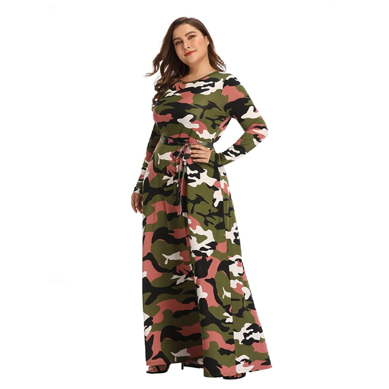 Large Size Dresses Women Summer 2021 Casual Round Neck Printed Oversized Long Dleeve Dress  Plus Size Sundresses  Female Clothes 5xl plus size sexy dress pullover bodycon casual fashion female autumn spring home clothes long oversized dresses indian new