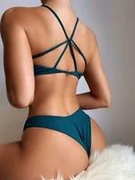 bikini 2021 woman swimsuit push up brazilian bathing suit swimwear women solid color bikinis sexy biquini beachwear swimsuits