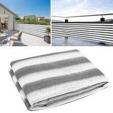Parasol de Protection HDPE   Écran de balcon rayé de 5M, clôture de jardin piscine avec corde 90x500cm voiles et filets de Protection