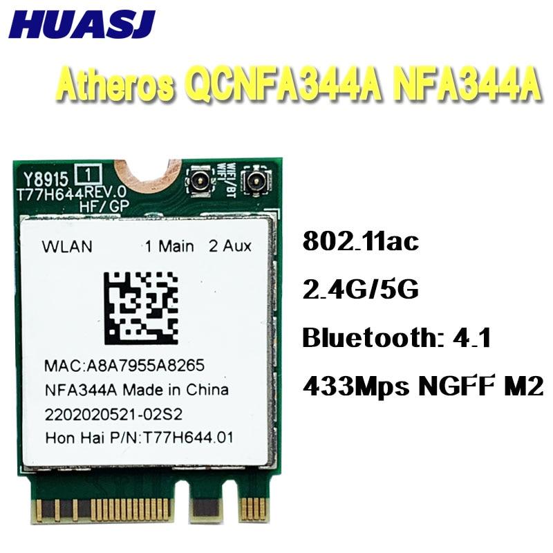Huasj Atheros Wireless AC adaptador Wi-Fi QCNFA344A NFA344A wifi de banda Dual...