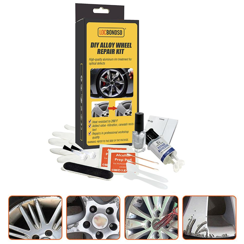 DIY Alloy Wheel Repair Kits Adhesive General Silver Car Auto Rim Dent Scratch Surface Damages Care R