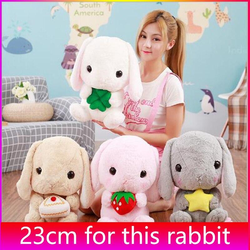 23 см, милый плюшевый кролик, мягкие игрушки, плюшевый кролик, детская Спящая Подушка, кукла, креативный подарок на день рождения для девочки
