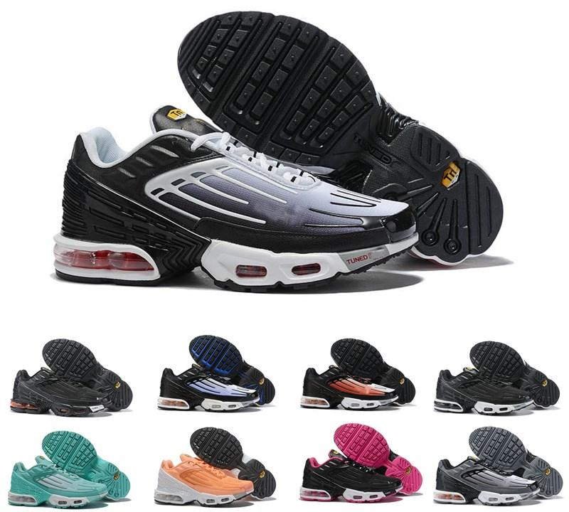¡Novedad de 2020! Zapatillas de deporte para hombre TN Original Plus III 3 tn Triple gris negro zapatillas de correr Plus TN zapatillas deportivas 36-45