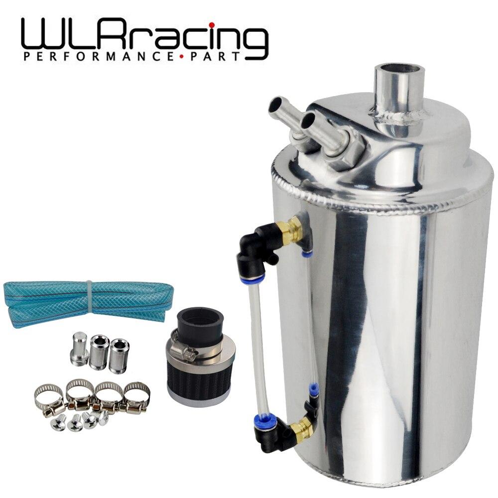 WLR RACING-2L 2-литровый алюминиевый полированный круглый масляный бак с фильтром WLR-TK01