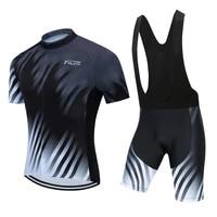 2021 black teleyi cycling jersey set mtb bicycle clothes sportswear bike clothing maillot ropa cycling set maillot cyclisme