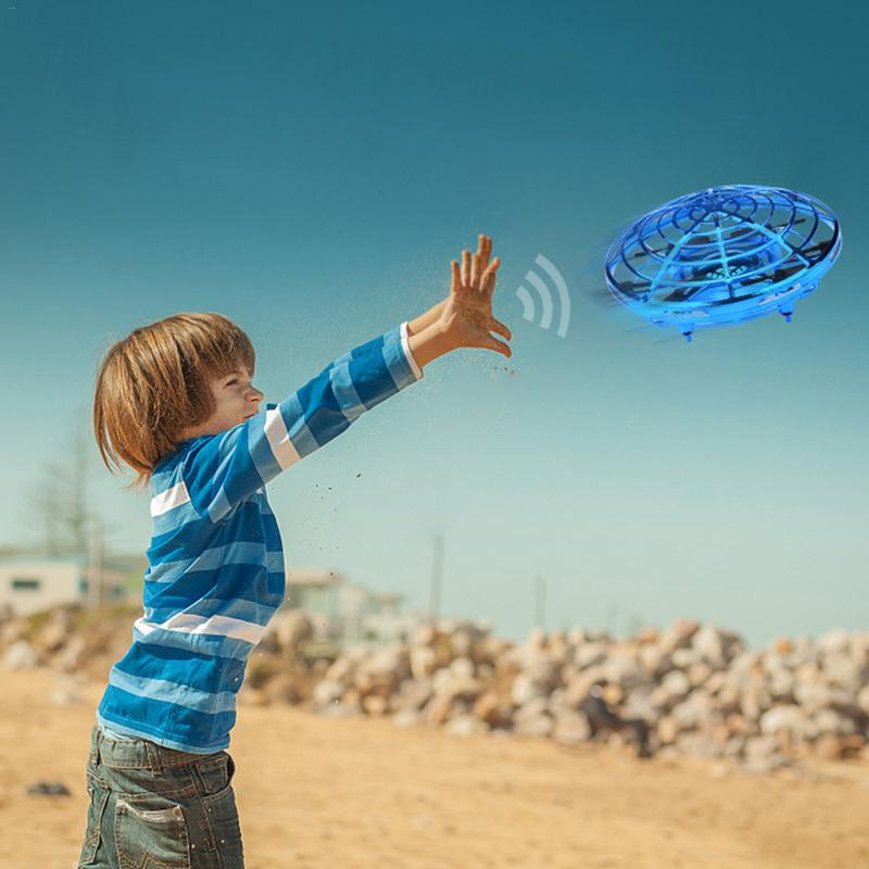 New Hand Induced Hovering Floating Flight Infrared Sensor Flying Saucer UFO  Movements Kids Toys Mini Drone LED Flash enlarge