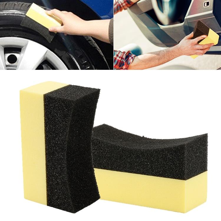 1 pçs carro enceramento polonês espuma esponja multiuso ferramenta de limpeza polonês cera aplicador almofadas lavagem esponja auto pneu escova esponja