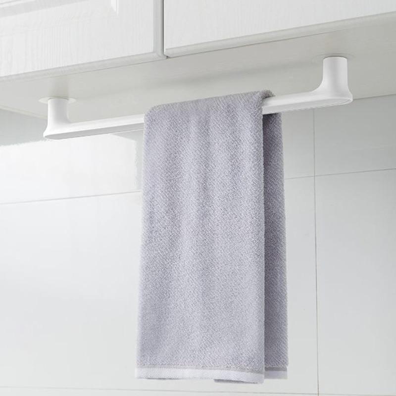 Soporte minimalista nórdico para toallas, toallero creativo de pared, toallero de plástico...