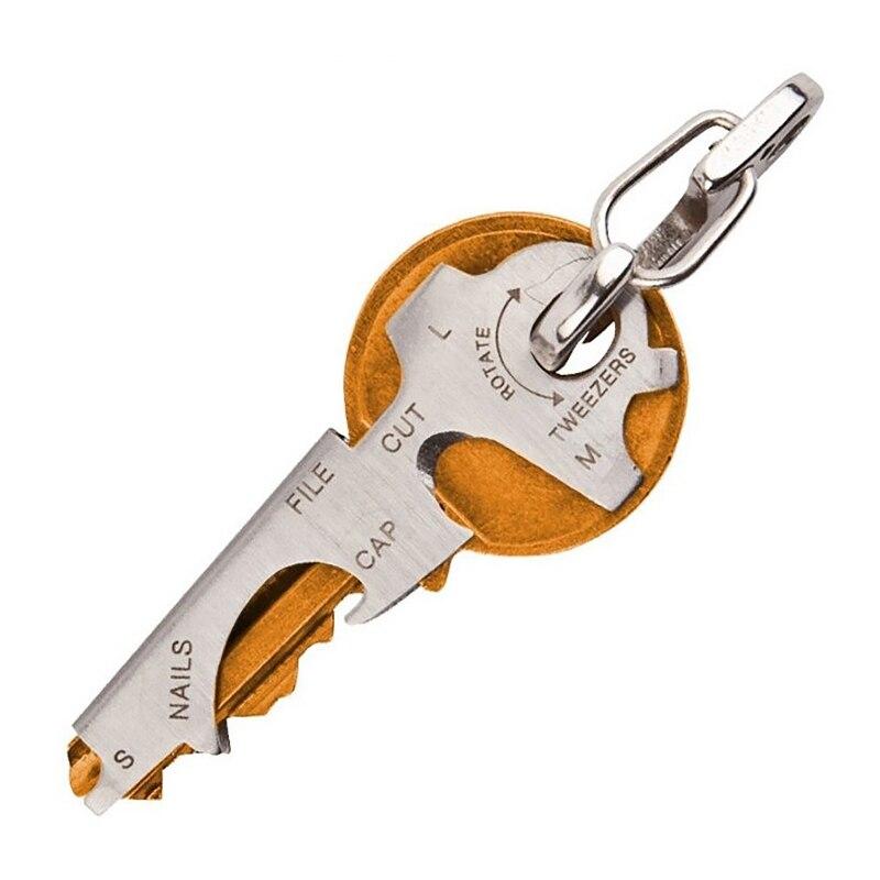 Engranaje de bolsillo clip multiusos 8 herramientas en 1 llavero quickdraw herramienta multifunción mosquetón edc