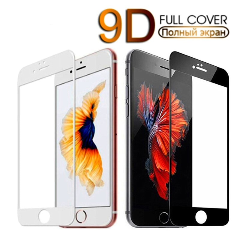 9D Full Cover Protective Glass IPhone 7 Plus 8 6 6S 5 XR XS Max Tempered Glass Iphone X Screen Prote