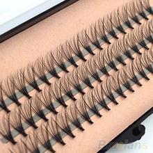 60 mechones Pestaña de visón Natural de la extensión del maquillaje 3D ruso Volumen de pestañas individuales 20D de pestañas maquillaje cilios