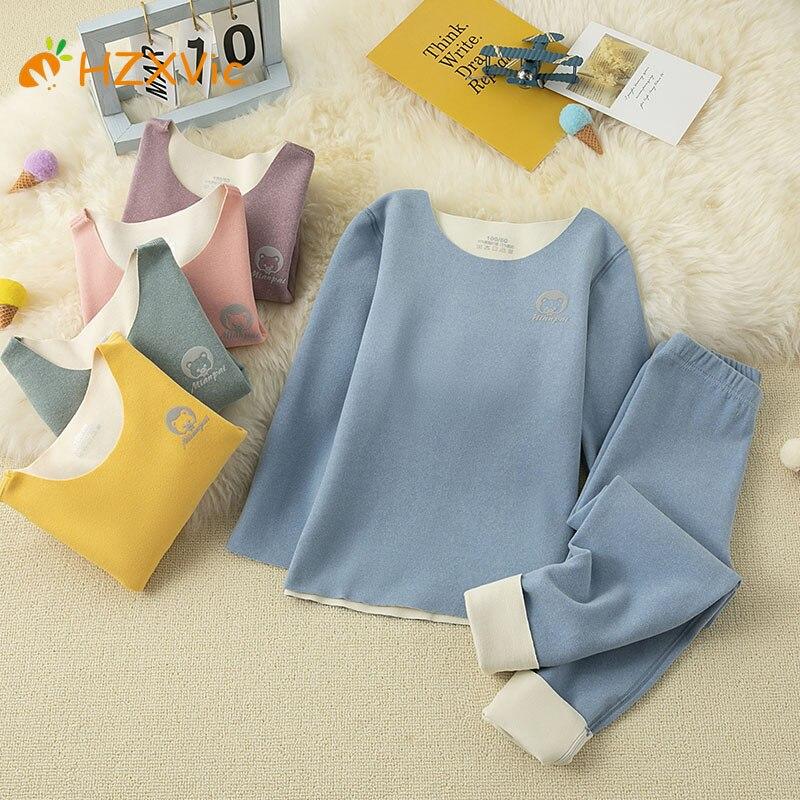 Комплекты детской одежды HZXvic, однотонные комплекты для девочек, детские зимние костюмы для детей, одежда для мальчиков, теплые костюмы для м...