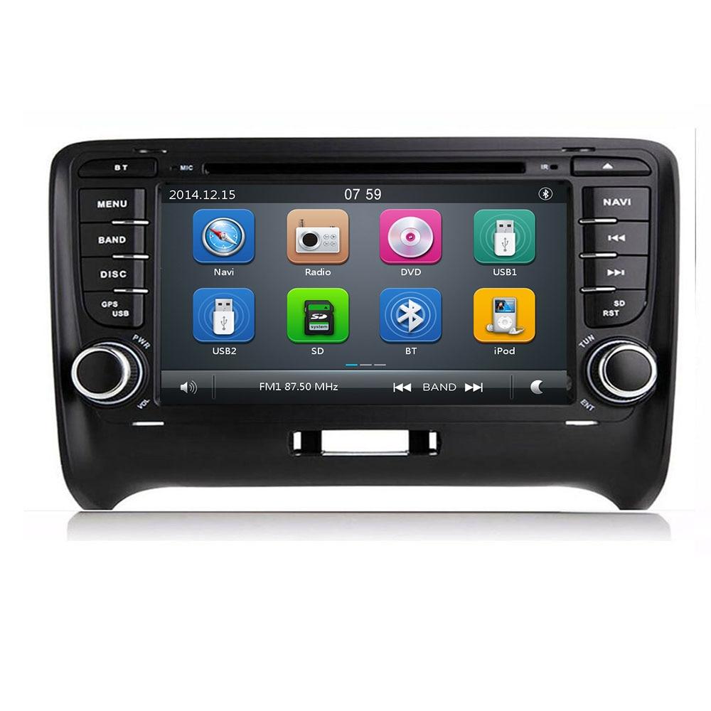 7For AUDI TT MK2 coche DVD GPS reproductor de la unidad 2006-2019 Bluetooth espejo enlace DAB + TPMS DTV RDS FM Cámara tarjeta SD Mapa de BT