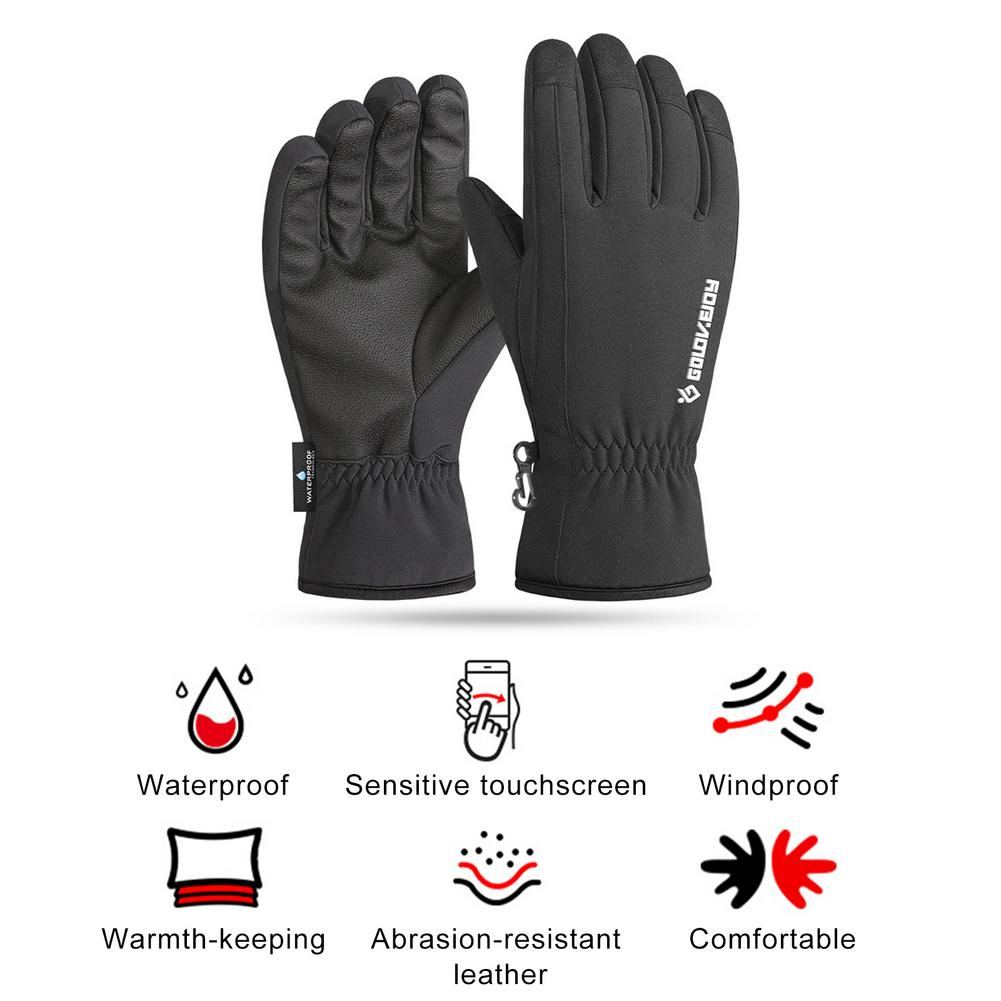 2020 Winter Outdoor Sports Running Glove Warm Touch Screen Gym Fitness Full Finger Gloves For Men Women Waterproof Magic Gloves