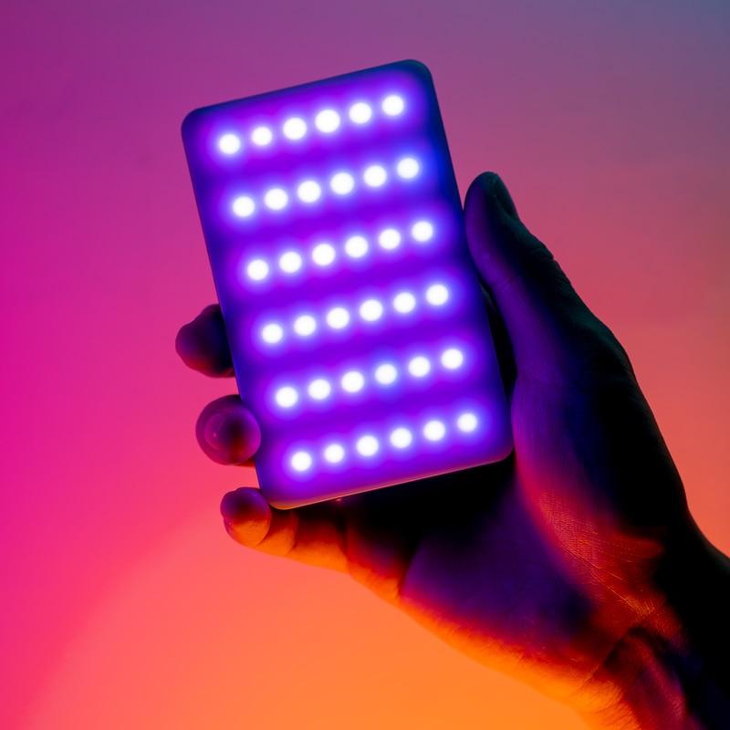 Ulanzi VL120 RGB Fill Light 2500-9000K RGB Video Light Camera Lamp 3100mAh Fancy Lighting For Youtube Tik tok Dimmable Lamp
