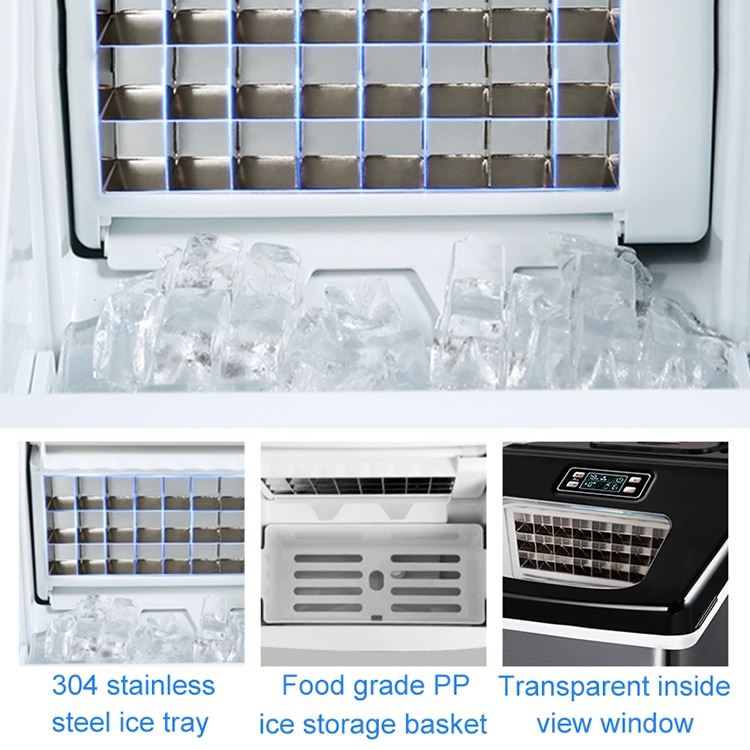 25KG Small commercial household square ice cube making machine for milk tea shop, bar, water bar enlarge