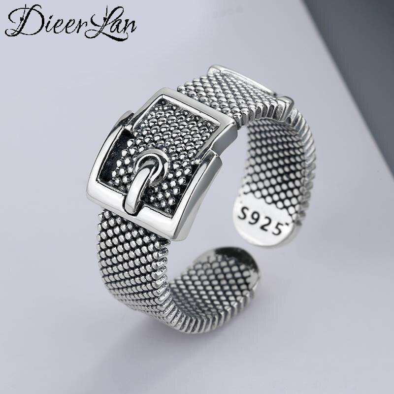 Oryginalna 925 srebrny pasek pierścionki dla kobiet proste lite srebro pierścionki Party Vintage biżuteria 2021