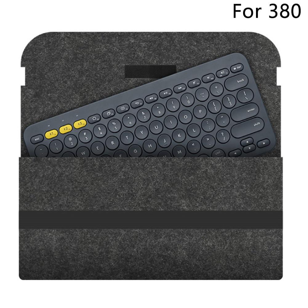 Bolso de teclado Anti golpes compacto Flexible portátil accesorios de viaje funda protectora de fieltro funda de transporte para Logitech K380