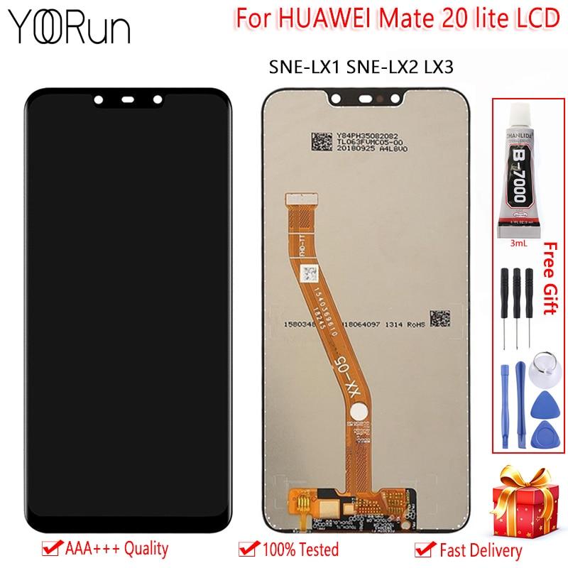 Módulo de pantalla de 6,3 pulgadas para Huawei Mate 20 Lite SNE LX1 LX2 LX3 pantalla LCD MONTAJE DE digitalizador con pantalla táctil herramientas de repuesto gratis