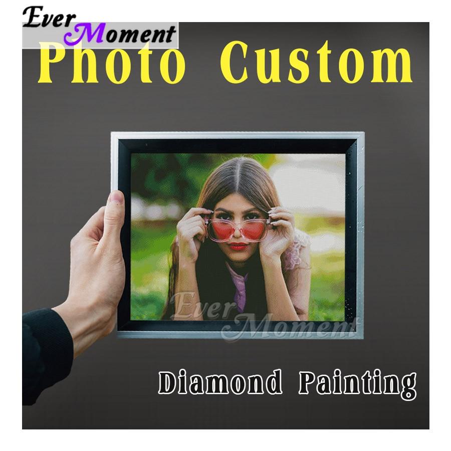 Ever Moment Photo Custom Diamond Painting Full Sqaure Drill Artwork Personalise Diamond Embroidery Handmade 5D DIY ASF4000