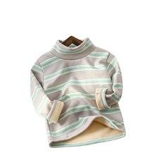 New Winter Baby Boys Fashion Underwear Autumn Children Girls Striped T Shirt Kids Clohtes Infant Cot