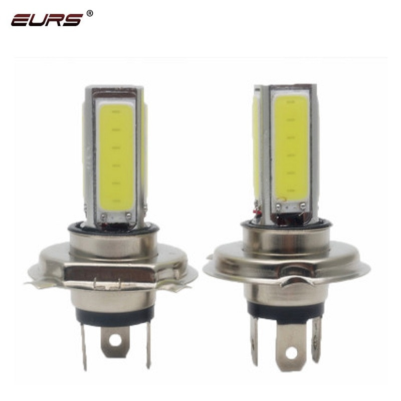 Светодиодные лампы EURS H4 LED H7 H11 COB, противотуманные фары для мотоцикла, 20 Вт, 360 градусов, супер яркие Автомобильные фары, высококачественные 6000K белые