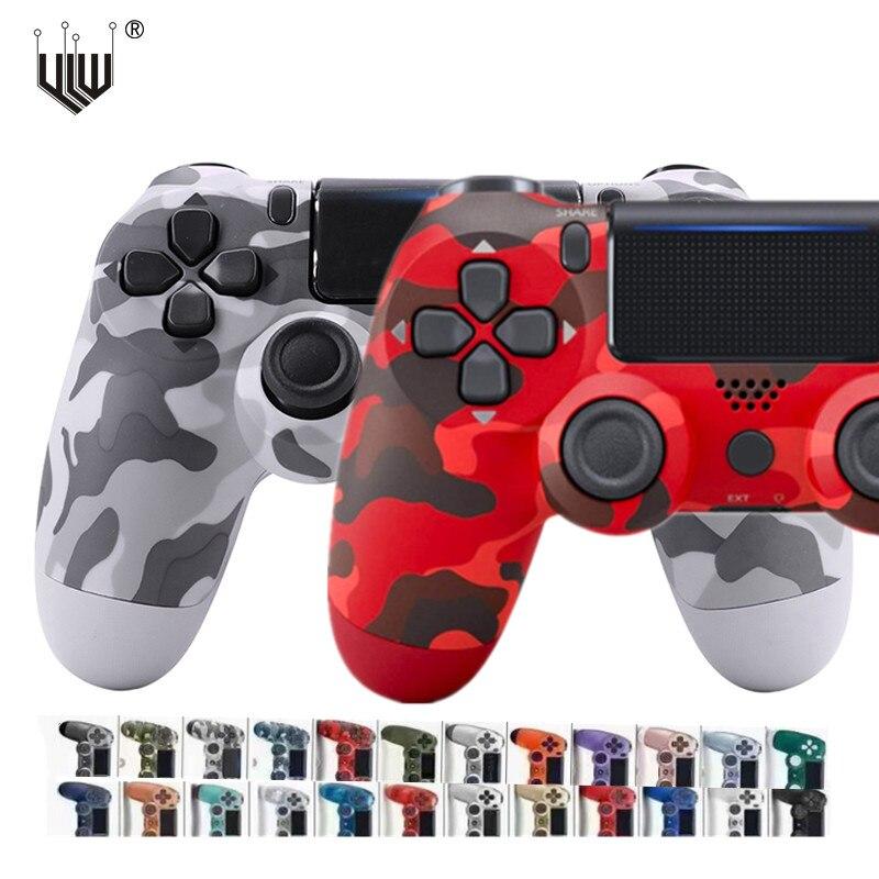 24 ألوان بلوتوث مزدوج الاهتزاز غمبد ل PS4 PS3 تحكم عصا تحكم لاسلكية ل PS4 ألعاب وحدة التحكم USB 6 محور Joypad