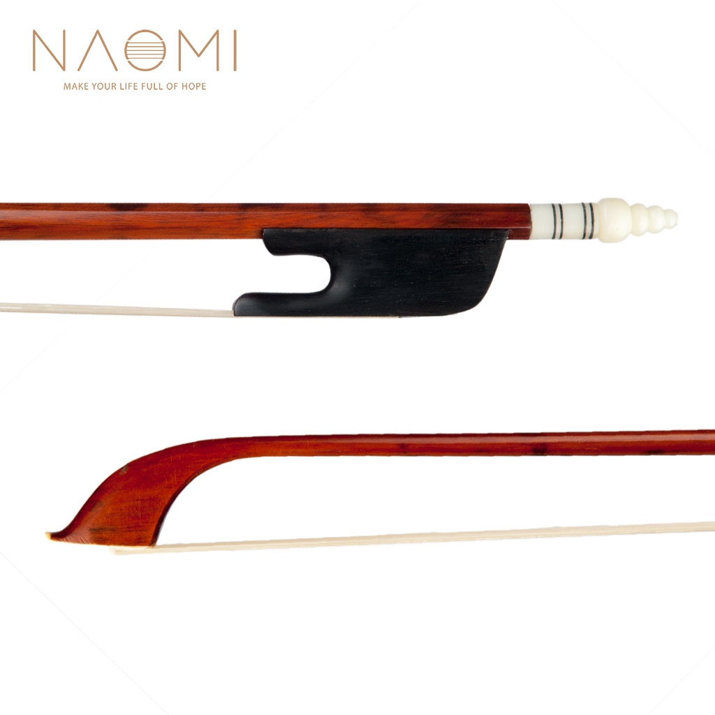 surveal handmade master carbon fiber cello bow natural white horse hair ebony frog carved best elastic with warm sound size 4 4 NAOMI 4/4 Size Violin Bow Snakewood Bow W/Ebony Frog White AA Grade Horsetail Hair Well Balance Fiddle Bows Baroque Style