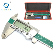 Étrier dacier inoxydable daffichage numérique 0-150mm 0.01MM Fraction de haute précision/MM/pouce mesure électronique de pied à coulisse daffichage à cristaux liquides