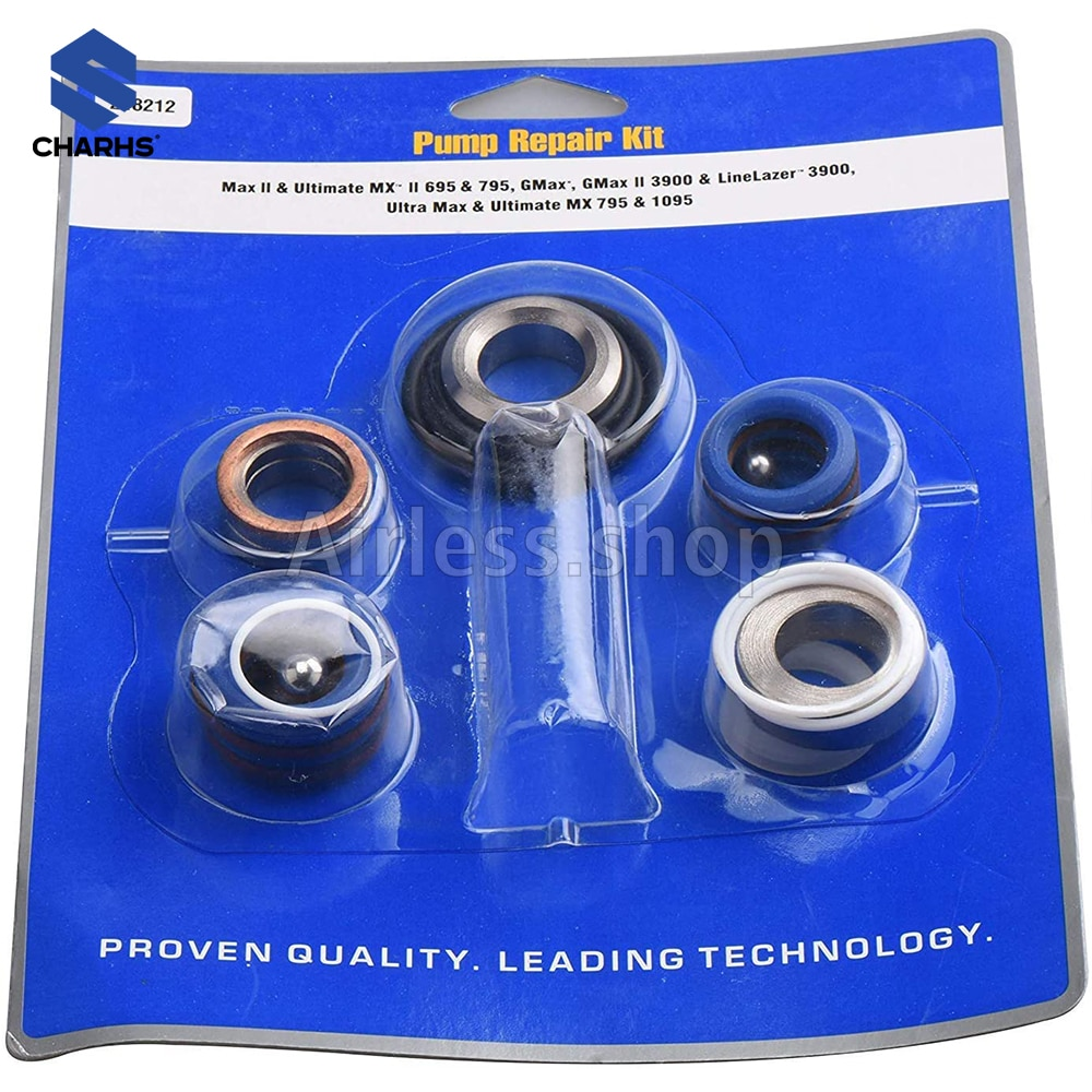 airless sprayer 248212 pump repair kit use with 9raco ultra Max II 390 395 490 495 595 linlazer 3400 enlarge