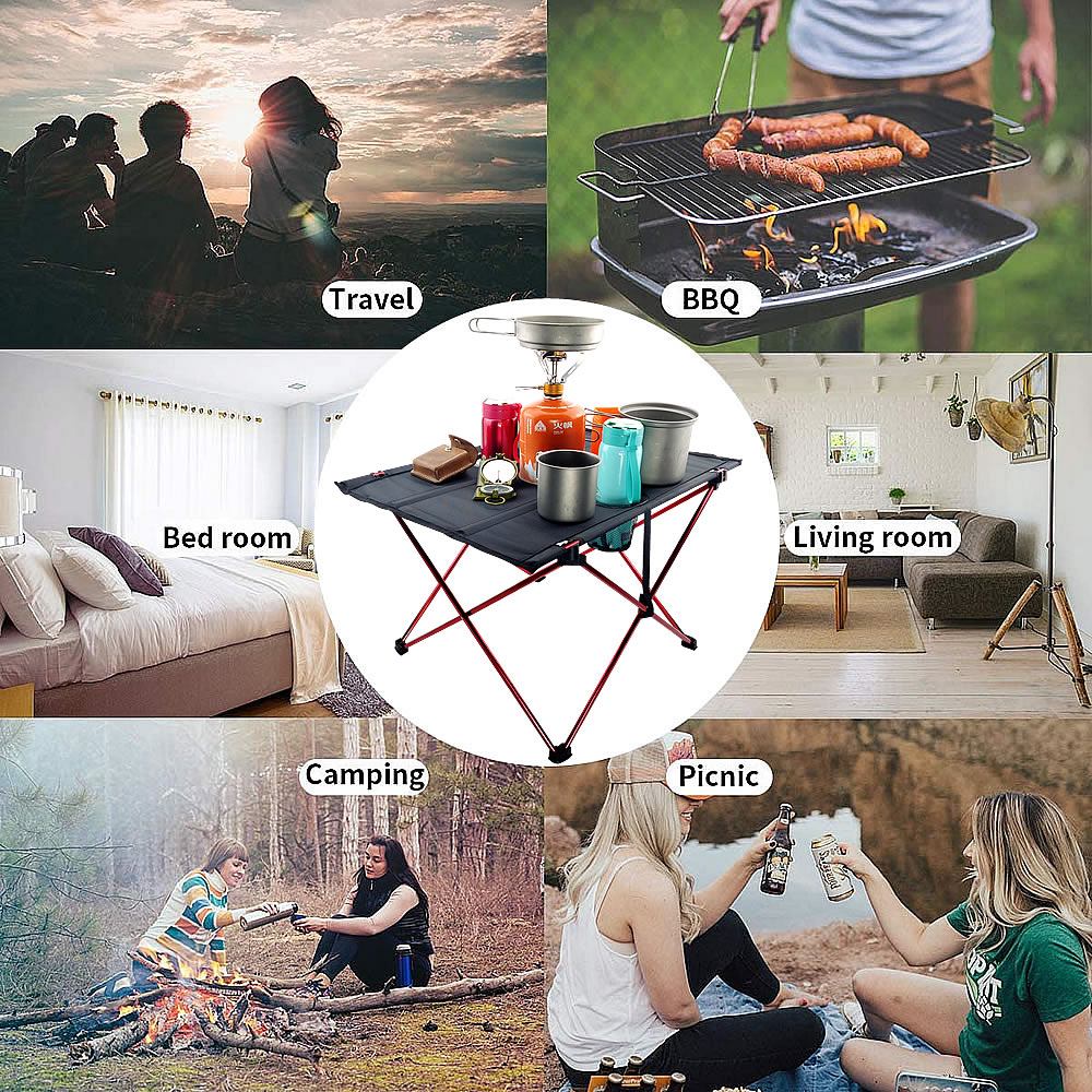 7075 Aluminum Alloy Ultralight Portable Table Outdoor Furniture Folding Camping Fishing Barbecue Desk Traveling Picnic Table
