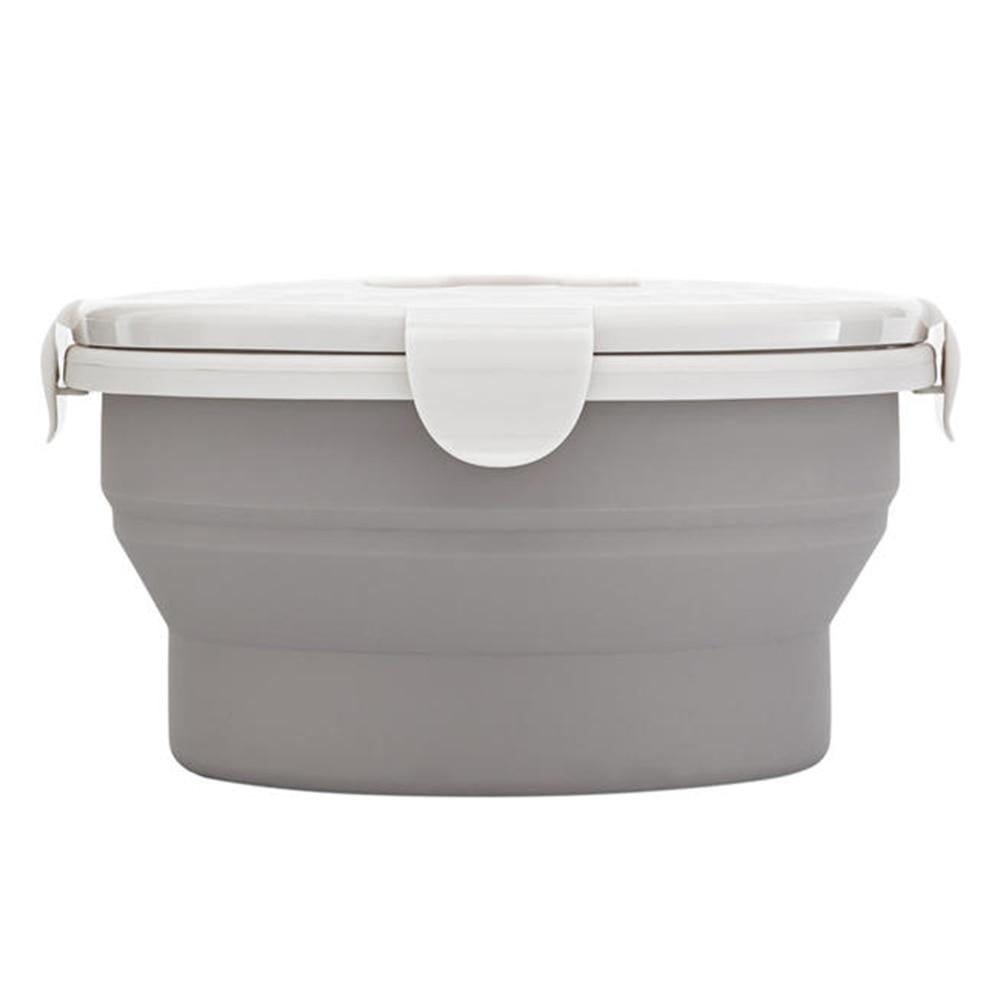 Contenedor de oficina microondas taza segura de silicona de grado alimenticio portátil de transporte caja de almuerzo Picnic al aire libre hogar plato de comida