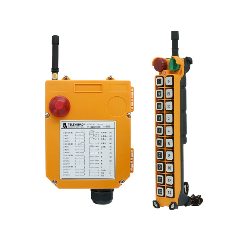 Factory direct supply F24-20S industrial wireless remote control remote controlled industrial remote control high quality f24 60 industrial joystick remote control crane wireless remote control