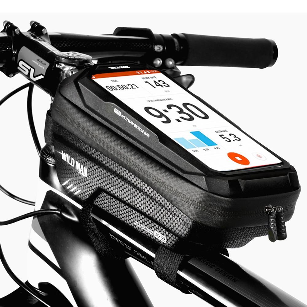 Велосипедная сумка на раму WILD MAN 2021, водонепроницаемая, дюйма