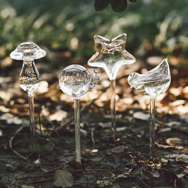 Автоматические лампочки для полива растений, круглые LED лампочки в форме животного, стеклянное домашнее украшение для сада, 1 шт.