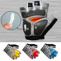 Перчатки спортивные 3D с гелевыми вставками для мужчин и женщин, Нескользящие митенки для тренажерного зала, фитнеса, тяжелой атлетики, боди...