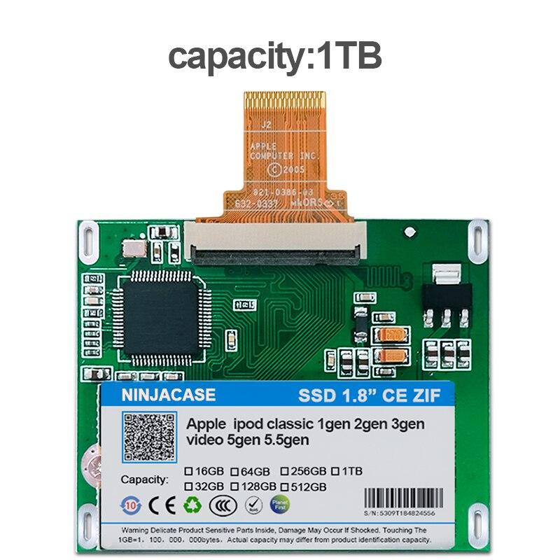 1 تيرا بايت SSD للأيبود كلاسيك 7Gen بود فيديو 5th استبدال MK3008GAH MK6008GAH MK801GAH MK1634GAL بود HDD القرص الصلب