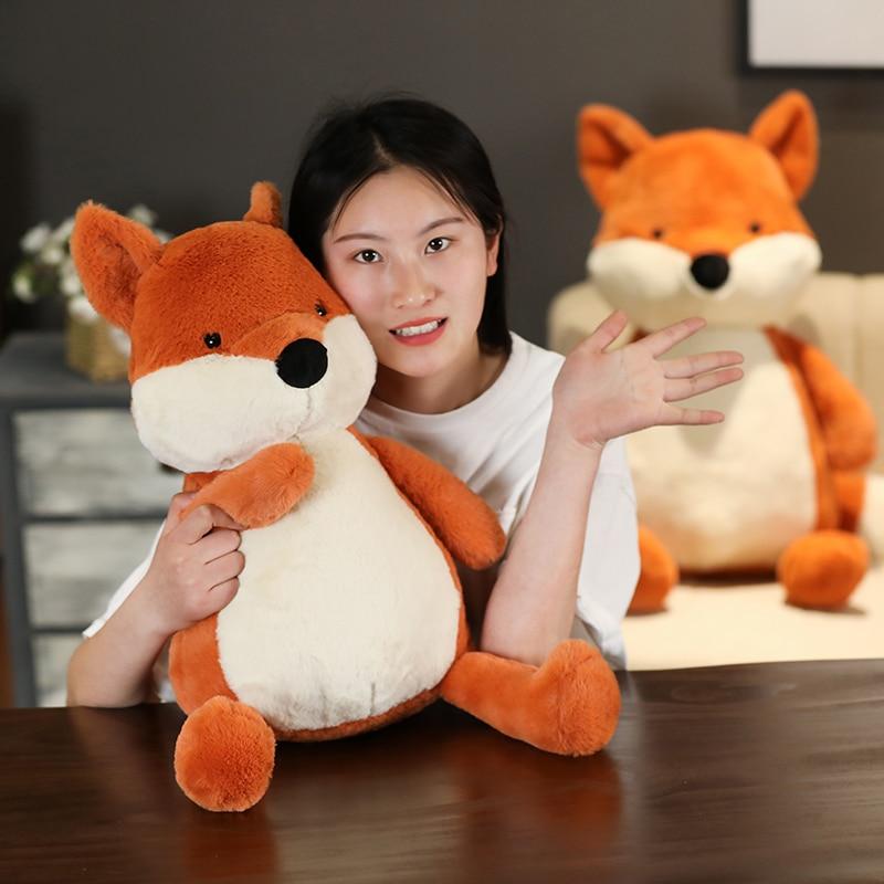 High Quality 70cm Lovely orange Fox Animal Stuffed&plush Soft pillow Doll Kid Toy Xmas Gift For Children